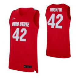 Women's Harrison Hookfin Authentic College Basketball Jersey Scarlet Ohio State Buckeyes