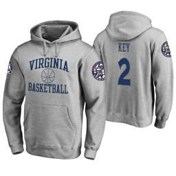 Virginia Cavaliers #2 Braxton Key Men's Heathered Gray College Basketball Hoodie