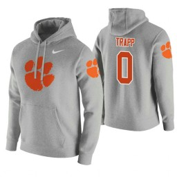 Clemson Tigers #0 Clyde Trapp Men's Heathered Gray College Basketball Hoodie