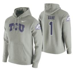 TCU Horned Frogs #1 Desmond Bane Men's Heathered Gray College Basketball Hoodie
