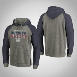 Men's Washington Huskies Hoodie Heathered Gray Freedom Tri-Blend Big & Tall