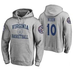 Virginia Cavaliers #10 Jayden Nixon Men's Heathered Gray College Basketball Hoodie