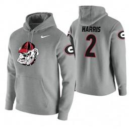 Georgia Bulldogs #2 Jordan Harris Men's Heathered Gray College Basketball Hoodie