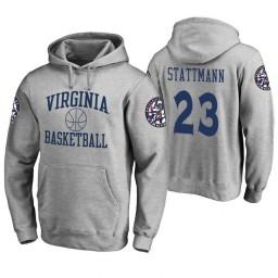 Virginia Cavaliers #23 Kody Stattmann Men's Heathered Gray College Basketball Hoodie