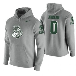 Michigan State Spartans #0 Kyle Ahrens Men's Heathered Gray College Basketball Hoodie