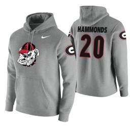 Georgia Bulldogs #20 Rayshaun Hammonds Men's Heathered Gray College Basketball Hoodie