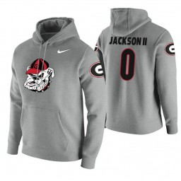 Georgia Bulldogs #0 William Jackson II Men's Heathered Gray College Basketball Hoodie