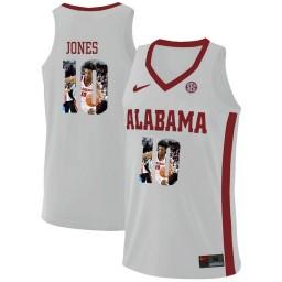 Youth Alabama Crimson Tide #10 Herbert Jones Authentic College Basketball Jersey White