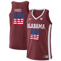 Youth Alabama Crimson Tide #10 Herbert Jones Authentic College Basketball Jersey Red