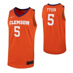 Youth Hunter Tyson Authentic College Basketball Jersey Orange Clemson Tigers