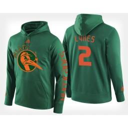 Miami Hurricanes #2 Chris Lykes Black Hoodie College Basketball