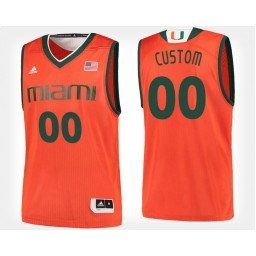 Miami Hurricanes #00 Custom Orange Home Jersey College Basketball