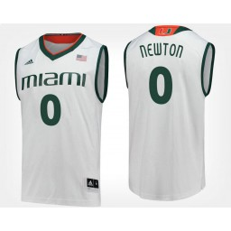Youth Miami Hurricanes #0 Ja'Quan Newton White Road Authentic College Basketball Jersey