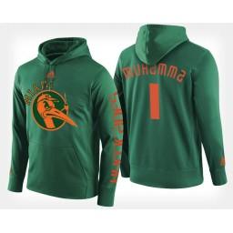 Miami Hurricanes #1 Rashad Muhammad Black Hoodie College Basketball