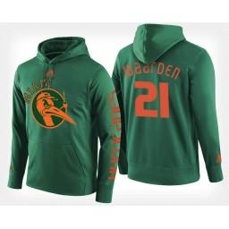 Miami Hurricanes #21 Sam Waardenburg Black Hoodie College Basketball