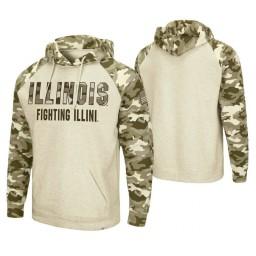 Illinois Fighting Illini Oatmeal OHT Military Appreciation Desert Camo Hoodie