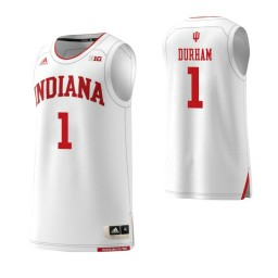 Indiana Hoosiers #1 Aljami Durham Authentic College Basketball Jersey White