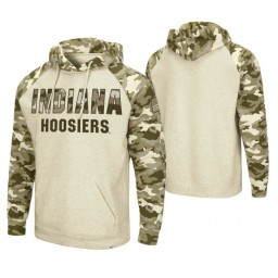 Indiana Hoosiers Oatmeal OHT Military Appreciation Desert Camo Hoodie