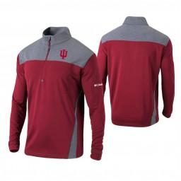 Indiana Hoosiers Crimson Omni-Wick Standard Quarter-Zip Jacket