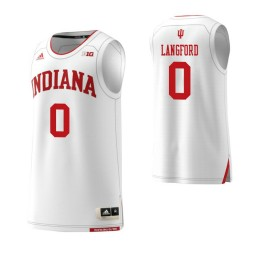 Indiana Hoosiers #0 Romeo Langford Authentic College Basketball Jersey White