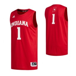 Indiana Hoosiers #1 Basketball Authentic College Basketball Jersey Crimson