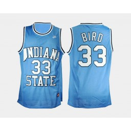 Women's indiana state Sycamores #33 Larry Bird Blue Road Authentic College Basketball Jersey