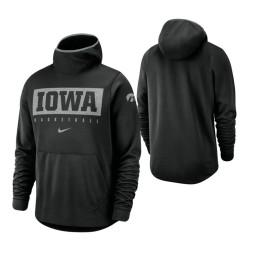 Iowa Hawkeyes Black Spotlight Basketball Hoodie