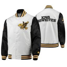 Iowa Hawkeyes White Black The Legend Full-Snap Jacket