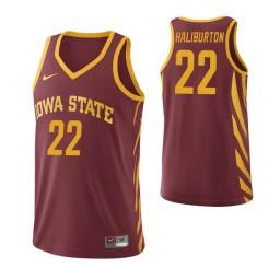 Iowa State Cyclones #22 Tyrese Haliburton Cardinal Authentic College Basketball Jersey