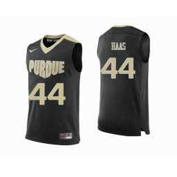 Purdue Boilermakers #44 Isaac Haas Authentic College Basketball Jersey Black