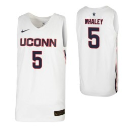 Women's Isaiah Whaley Authentic College Basketball Jersey White UConn Huskies