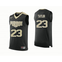 Purdue Boilermakers #23 Jacquil Taylor Authentic College Basketball Jersey Black