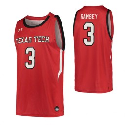 Youth Jahmi'us Ramsey Authentic College Basketball Jersey Red Texas Tech Red Raiders