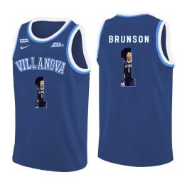 Youth Villanova Wildcats #1 Jalen Brunson Authentic College Basketball Jersey Blue
