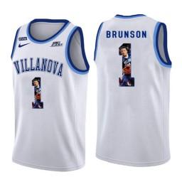 Youth Villanova Wildcats #1 Jalen Brunson Authentic College Basketball Jersey White