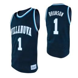 Youth Villanova Wildcats #1 Jalen Brunson Navy Authentic College Basketball Jersey
