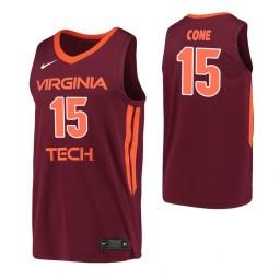 Women's Virginia Tech Hokies #15 Jalen Cone Maroon Authentic College Basketball Jersey