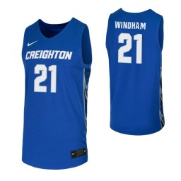 Youth Creighton Bluejays #21 Jalen Windham Royal Authentic College Basketball Jersey