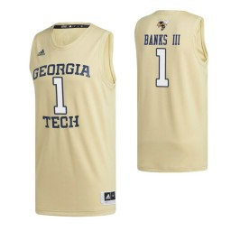 Georgia Tech Yellow Jackets 1 James Banks III Swingman Jersey Gold