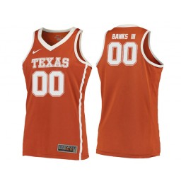 Youth Texas Longhorns #00 James Banks III Authentic College Basketball Jersey Orange
