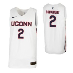 Women's James Bouknight Authentic College Basketball Jersey White UConn Huskies
