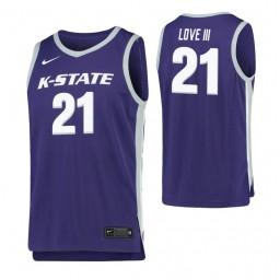 James Love III Authentic College Basketball Jersey Purple Kansas State Wildcats