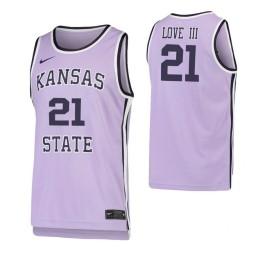 James Love III Kansas State Wildcats Purple Authentic College Basketball Jersey