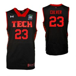 Youth Jarrett Culver Texas Tech Red Raiders Black 2019 Final Four Authentic College Basketball Jersey