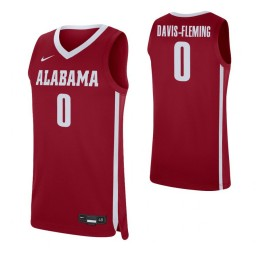 Youth Alabama Crimson Tide #0 Javian Davis-Fleming Crimson Authentic College Basketball Jersey