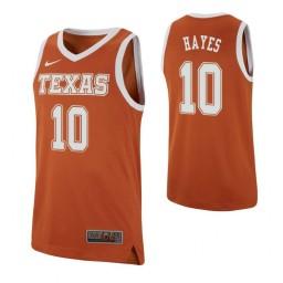 Youth Jaxson Hayes Authentic College Basketball Jersey Texas Orange Texas Longhorns