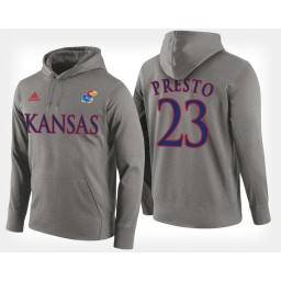 Kansas Jayhawks #23 Billy Preston Gray Hoodie College Basketball