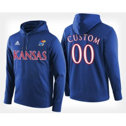 Kansas Jayhawks #00 Custom Blue Hoodie College Basketball