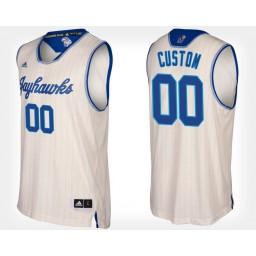 Kansas Jayhawks #00 Custom Cream Alternate Jersey College Basketball