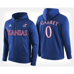 Kansas Jayhawks #0 Marcus Garrett Blue Hoodie College Basketball